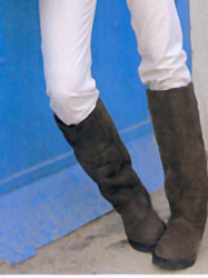 knee length sheepskin boots